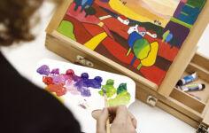 Peinture acrylique & marqueur (hobby)