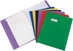 Elba 339897800 15 68 prot ge cahier avec pochette - Protege cahier avec rabat ...