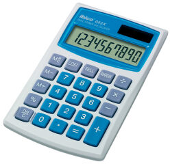 ibico Calculatrice 082X, écran LCD à 10 chiffres, étui en