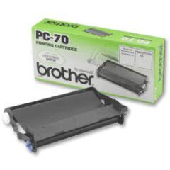 Rouleau TTR pour brother Fax, T72/T74/T76/T78/T92/T94/T96/T98, noir, 1 TTR + cassette à multi-usages