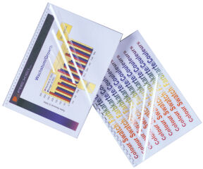 GBC Couverture de reliure HiClear, format A3, PVC, 0,30 mm