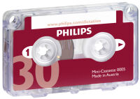 PHILIPS Mini cassette LFH0005, 30 minutes
