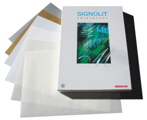 REGULUS Film PET autoadhésif SIGNOLIT SC, A4, transparent