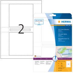 Étiquettes SPECIAL CD-/DVD, jetd'encre + laser + photocopieuse, 121,5 x 117,5, blanches, brillant, C
