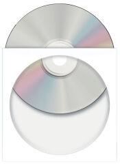 HERMA pochettes papier pour CD/DVD, avec fenêtre, blanc