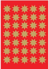 HERMA Autocollants de Noël DECOR 'étoiles', 15 mm, or