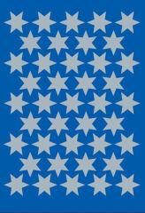 HERMA Autocollants de Noel DECOR 'étoiles', 14 mm, argent