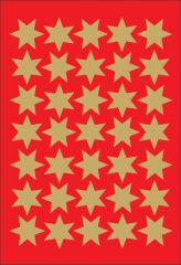 HERMA Autocollants de Noël DECOR 'étoiles', 16 mm, or