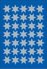 HERMA Autocollants de Noel DECOR 'étoiles', 16 mm, argent