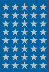 HERMA Autocollants de Noel DECOR 'étoiles', 8 mm, argent