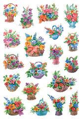 HERMA Autocollant de décoration 'fleurs dans un panier'