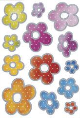 HERMA autocollant de décoration 'fleurs impression argentée'