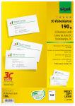sigel Cartes de visite 3C, 85 x 55 mm, 225 g/m2, extra blanc