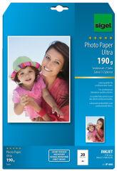 sigel papier photo jet d'encre Ultra, satiné, A4, 190 g/m2