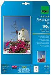 sigel papier photo jet d'encre, satiné mat, A4, 190 g/m2