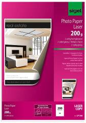 sigel Papier photo, A4, 200 g/m2, glossy recto-verso