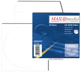 MAILmedia pochettes papier CD / DVD, avec fenêtre