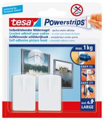 tesa Powerstrips Crochet adhésif pour cadre, blanc