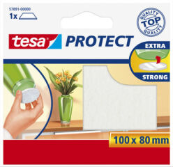 tesa Protect Patin en feutrine, 100 x 80 mm, blanc