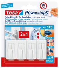 tesa Powerstrips Fixation adhésive pour rideaux Vario,marron