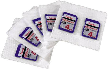 hama Etui pour carte mémoire, auto-adhésif, pour cartes SD