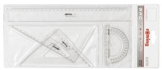 rotring Kit de géométrie Centro, 4 pièces, transparent