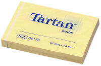 Tartan bloc-notes repositionnable, 76 x 76 mm, jaune clair