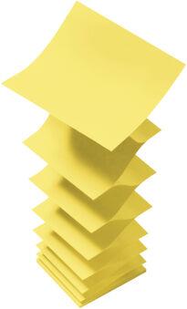 Post-it Bloc-note adhésif Z-Notes, 127 x 76 mm, jaune