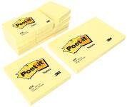 3M Post-it Notes adhésives, 127 x 76 mm, jaune,