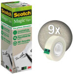 3M Scotch Ruban adhésif Magic 900, 19 mm x 33 m, paquet de 9