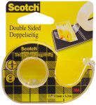 Scotch Ruban adhésif double face 665, 12 mm x 6,3 m