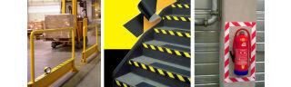 3M Ruban adhésif PVC souple 767i, noir / jaune