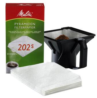 Melitta Filtres à café pyramidal 202s pour machines dans la