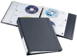 DURABLE Classeur à anneaux CD-/DVD INDEX, 40 CD, anthracite