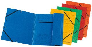 herlitz Chemise à élastiques easyorga, A4, bleu