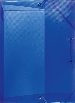herlitz Chemise de rangement, A4, en PP, bleu translucide