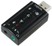 LogiLink Adaptateur audio USB 2.0, soundeffect 7.1
