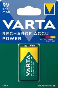 VARTA Pile NiMH 'Rechargeable Accu', pile 9v (6F22)