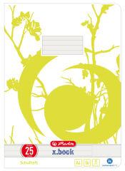 herlitz cahier x.book, A4, linéature 28 / quadrillé avec 2