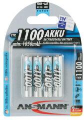 ANSMANN Pile NiMH Premium, Micro AAA, 1.100mAh, blister de 4