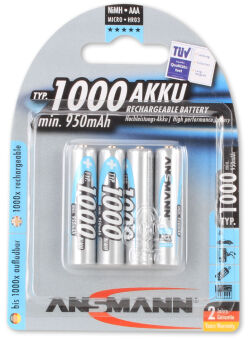 ANSMANN Pile rechargeable NiMH Premium, Micro AAA, 1.100 mAh