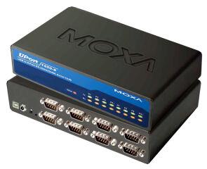 MOXA hub RS-232 avec port USB 2.0,8 ports,desktop, avec bloc