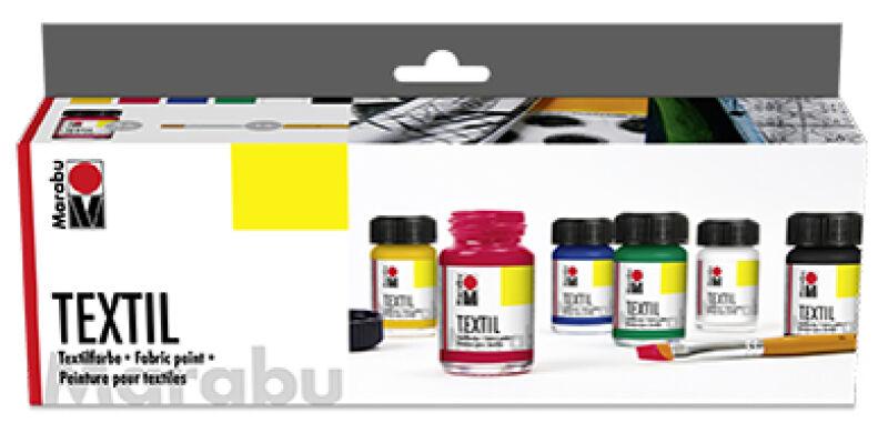 marabu 57200502 9 90 peinture pour textile textil kit de d marrage. Black Bedroom Furniture Sets. Home Design Ideas