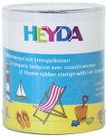 HEYDA Kit de tampons à motif 'vacances', en boîte ronde