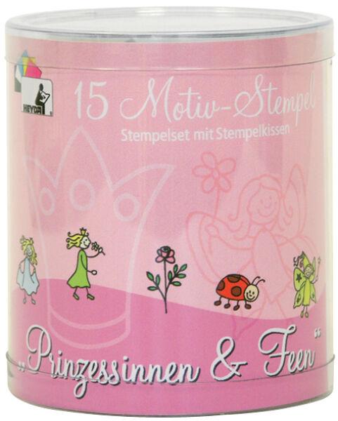 heyda 57300361 5 37 heyda kit de timbres motifs 39 princesses f es 39 bo te. Black Bedroom Furniture Sets. Home Design Ideas