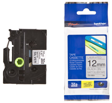 brother TZe-Tape TZe-C31 cassette à ruban, Largeur: 12 mm,