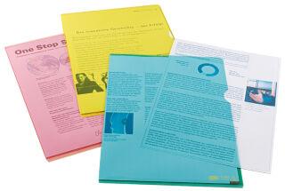 Oxford pochettes coin Premium, A4, PVC, transparent, violet