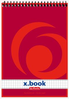 herlitz Bloc-notes à spirale x.book, A6, 50 pages, ligné