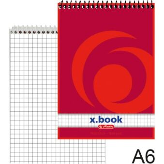 herlitz Bloc-notes à spirale x.book, A6, 50 pages