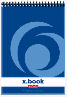 herlitz Bloc-notes à spirale x.book, A7, 50 pages, ligné